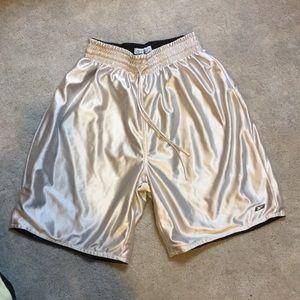 Reebok Silver + Black Reversible basketball shorts